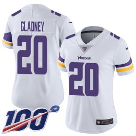 Wholesale Cheap Nike Vikings #20 Jeff Gladney White Women\'s Stitched NFL 100th Season Vapor Untouchable Limited Jersey