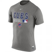 Wholesale Cheap Chicago Cubs Nike 2016 AC Legend Team Issue 1.6 T-Shirt Gray