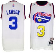 Wholesale Cheap Denver Nuggets #3 Ty Lawson ABA Hardwood Classic Swingman White Jersey