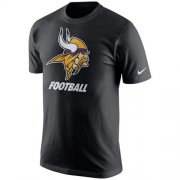 Wholesale Cheap Minnesota Vikings Nike Facility T-Shirt Black