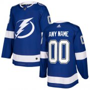 Wholesale Cheap Men's Adidas Lightning Personalized Authentic Royal Blue Home NHL Jersey