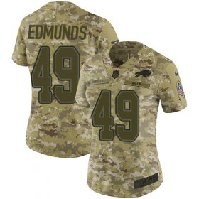 Wholesale Cheap Nike Bills #49 Tremaine Edmunds Camo Women\'s Stitched NFL Limited 2018 Salute to Service Jersey