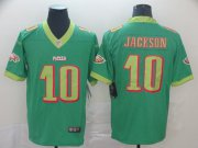 Wholesale Cheap Nike Eagles #10 DeSean Jackson Green Men's Stitched NFL Limited City Edition Jersey