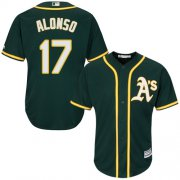 Wholesale Cheap Athletics #17 Yonder Alonso Green Cool Base Stitched Youth MLB Jersey