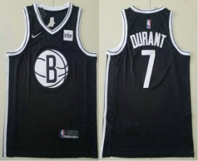 Wholesale Cheap Men\'s Brooklyn Nets #7 Kevin Durant Black 2019 NEW Nike Swingman Stitched NBA Jersey With The Sponsor Logo