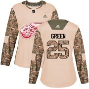 Wholesale Cheap Adidas Red Wings #25 Mike Green Camo Authentic 2017 Veterans Day Women's Stitched NHL Jersey