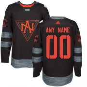 Wholesale Cheap Men's Adidas Team North America Personalized Authentic Black Road 2016 World Cup NHL Jersey