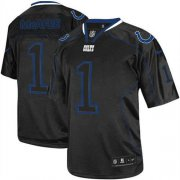 Wholesale Cheap Nike Colts #1 Pat McAfee Lights Out Black Men's Stitched NFL Elite Jersey