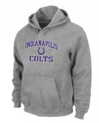 Wholesale Cheap Indianapolis Colts Heart & Soul Pullover Hoodie Grey
