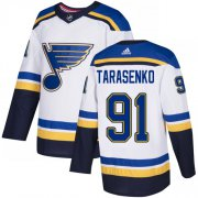 Wholesale Cheap Adidas Blues #91 Vladimir Tarasenko White Road Authentic Stitched Youth NHL Jersey