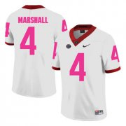 Wholesale Cheap Georgia Bulldogs 4 Keith Marshall White Breast Cancer Awareness College Football Jersey