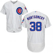 Wholesale Cheap Cubs #38 Mike Montgomery White Flexbase Authentic Collection Stitched MLB Jersey