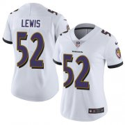 Wholesale Cheap Nike Ravens #52 Ray Lewis White Women's Stitched NFL Vapor Untouchable Limited Jersey