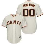 Wholesale Cheap San Francisco Giants Majestic Cool Base Custom Jersey Cream