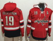 Wholesale Cheap Capitals #19 Nicklas Backstrom Red Name & Number Pullover NHL Hoodie