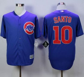 Wholesale Cheap Cubs #10 Ron Santo Blue New Cool Base Stitched MLB Jersey