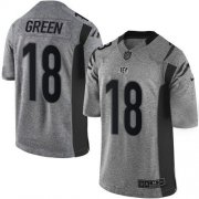 Wholesale Nike Bengals #18 A.J. Green Gray Men's Stitched NFL Limited Gridiron Gray Jersey