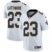 Wholesale Cheap Nike Saints #23 Marshon Lattimore White Youth Stitched NFL Vapor Untouchable Limited Jersey