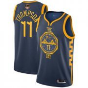 Wholesale Cheap Warriors #11 Klay Thompson Navy 2019 Finals Bound Basketball Swingman City Edition 2018-19 Jersey