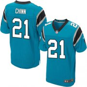 Wholesale Cheap Nike Panthers #21 Jeremy Chinn Blue Alternate Men's Stitched NFL New Elite Jersey