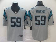 Wholesale Cheap Nike Panthers #59 Luke Kuechly Silver Men's Stitched NFL Limited Inverted Legend Jersey