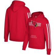 Wholesale Cheap Arizona Cardinals Mitchell & Ness Three Stripe Pullover Hoodie Cardinal