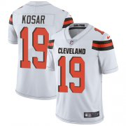 Wholesale Cheap Nike Browns #19 Bernie Kosar White Men's Stitched NFL Vapor Untouchable Limited Jersey