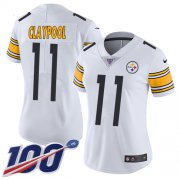 Wholesale Cheap Nike Steelers #11 Chase Claypool White Women's Stitched NFL 100th Season Vapor Untouchable Limited Jersey