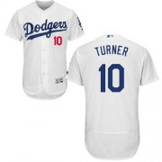 Wholesale Cheap Dodgers #10 Justin Turner White Flexbase Authentic Collection Stitched MLB Jersey