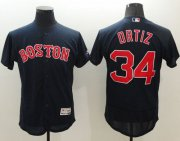 Wholesale Red Sox #34 David Ortiz Navy Blue Flexbase Authentic Collection Stitched Baseball Jersey