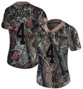 Wholesale Cheap Nike Texans #4 Deshaun Watson Camo Women's Stitched NFL Limited Rush Realtree Jersey