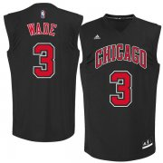 Wholesale Cheap Chicago Bulls 3 Dwayne Wade Black Fashion Replica Jersey