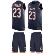 Wholesale Cheap Nike Bears #23 Kyle Fuller Navy Blue Team Color Men's Stitched NFL Limited Tank Top Suit Jersey