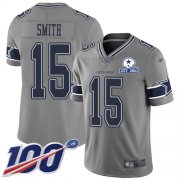 Wholesale Cheap Nike Cowboys #15 Devin Smith Gray Men's Stitched With Established In 1960 Patch NFL Limited Inverted Legend 100th Season Jersey