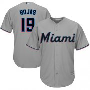 Wholesale Cheap Marlins #19 Miguel Rojas Grey Cool Base Stitched Youth MLB Jersey