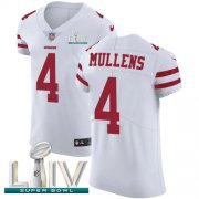 Wholesale Cheap Nike 49ers #4 Nick Mullens White Super Bowl LIV 2020 Men's Stitched NFL Vapor Untouchable Elite Jersey