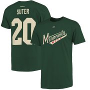 Wholesale Cheap Minnesota Wild #20 Ryan Suter Reebok Name and Number Player T-Shirt Green
