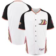 Wholesale Cheap Los Angeles Angels Majestic 2019 Anaheim Ducks Crossover Flex Base Authentic Jersey White
