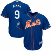 Wholesale Cheap Mets #9 Brandon Nimmo Blue 2019 Spring Training Cool Base Stitched MLB Jersey