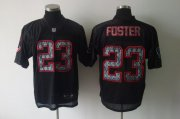 Wholesale Cheap Sideline Black United Texans #23 Arian Foster Black Stitched NFL Jersey