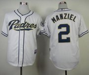 Wholesale Cheap Padres #2 Johnny Manziel White Cool Base Stitched MLB Jersey