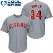 Wholesale Cheap Reds #34 Homer Bailey Grey Cool Base Stitched Youth MLB Jersey