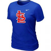 Wholesale Cheap Women's St.Louis Cardinals Heathered Nike Blue Blended T-Shirt