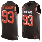 Wholesale Cheap Nike Browns #93 B.J. Goodson Brown Team Color Men's Stitched NFL Limited Tank Top Jersey