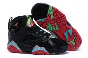 Wholesale Cheap Kids' Air Jordan 7 Retro Shoes Black/red-blue-silver