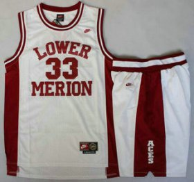 Wholesale Cheap Lower Merion #33 Kobe Bryant White Basketball Jerseys Shorts Suits