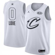 Wholesale Cheap Nike Cavaliers #0 Kevin Love White NBA Jordan Swingman 2018 All-Star Game Jersey