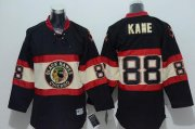 Wholesale Cheap Blackhawks #88 Patrick Kane Black Stitched Youth New Third NHL Jersey