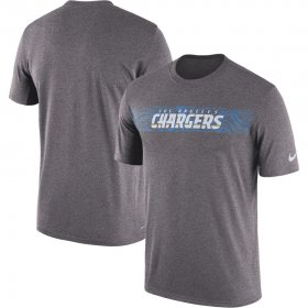 Wholesale Cheap Los Angeles Chargers Nike Sideline Seismic Legend Performance T-Shirt Charcoal