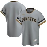 Wholesale Cheap Pittsburgh Pirates Nike Road Cooperstown Collection Team MLB Jersey Gray